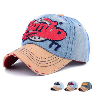 Promotional Embroidered Washed Cotton Denim Baseball Caps (YKY3090) pictures & photos