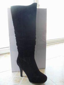 Ladies Fashion Knee-High Stiletto Heel Boots (S 17) pictures & photos