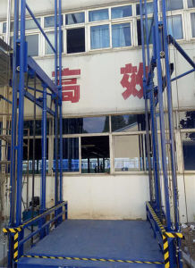 Warehouse Hydraulic Vertical Lifting Equipment with Double Guide pictures & photos