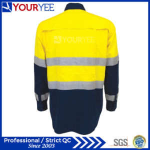 Custom Work Shirts with Reflective Tape Back Venting (YWS119) pictures & photos
