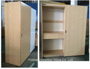 Wooden Bedroom Sliding Wardrobe with Outer Top Slid System pictures & photos