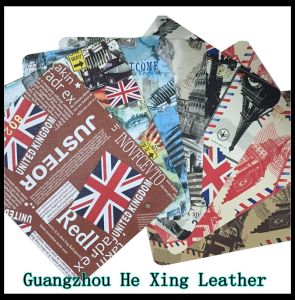 Eco-Friendly PU Leather, Syntheticl Printed Leather for Shoes, Hand Bag pictures & photos