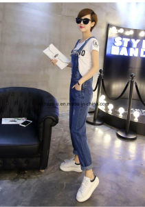 High Quality Slim Denim Ladies Jeans Overall Women Long Pants pictures & photos