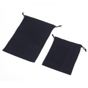 Black 100% Cotton Drawstring Bags pictures & photos