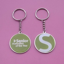Round Shape Enamel Metal Key Chains pictures & photos