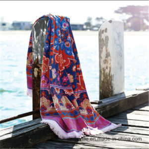 Popular Design Cotton Velou Beach Towel pictures & photos