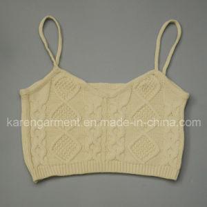 Cable Knit Cami Cropped Sweater Top Cute Clothes pictures & photos