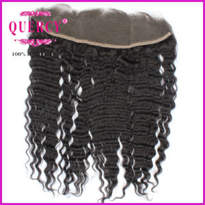 Indian Lace Frontal Closure Ear to Ear Full Lace Frontal Closure 13X4 Human Hair Lace Frontals pictures & photos
