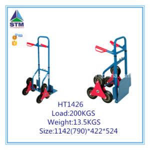 Six Wheel Hand Trolley for Climbing Stairs pictures & photos