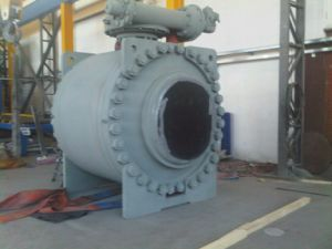 API 6D Forged Trunnion Flange Ball Valve pictures & photos