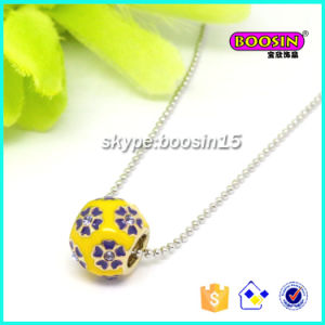Nice Handmade Enamel Flower Pendant Silver Necklace Jewllery pictures & photos