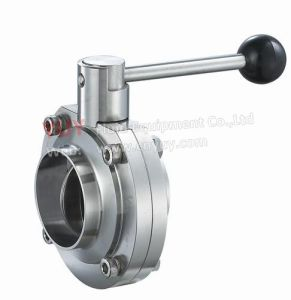 Sanitary Welded Butterfly Valve Material Ss304/Ss316L pictures & photos