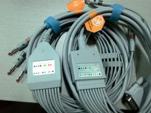 Nihon Kohden 25pin IEC Snap EKG/ECG Cable pictures & photos