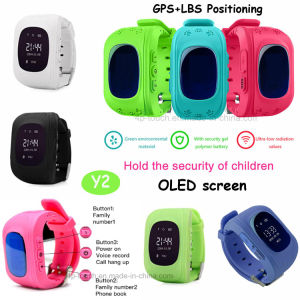 2017 Hot Digital/Smart Kids GPS Tracker Watch with Sos Y2 pictures & photos