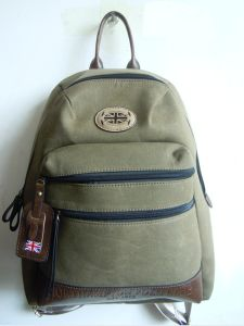 Guangzhou Supplier Army Duck Canvas Backpack Bag Waxed Sailcloth (330264)