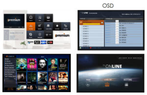 High Definition Live Streams IPTV Box Onlive+ Support 10 Multistreaming Servers pictures & photos