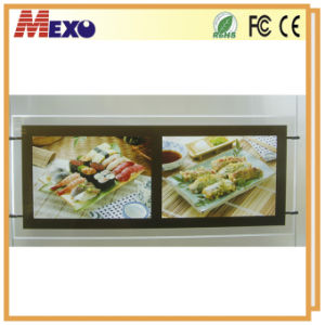 Multi-Pocket Hanging Restaurant Fast Food LED Menu Board pictures & photos