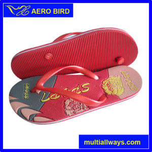 Leisure Bright Print PE Slipper PE Flip Flops pictures & photos