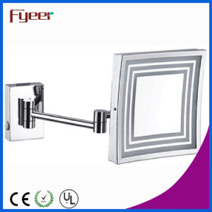 Fyeer Single Side Wall Mounted LED Square Cosmetic Mirror pictures & photos