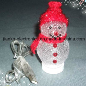 LED Lighting USB Christmas Snowman with Logo Print (5004) pictures & photos