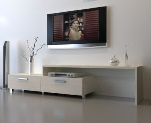 Modern Simple TV Cabinet with Two Drawers pictures & photos