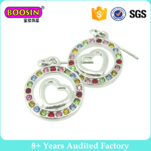 Custom Silver Plated Fashion Earring with Colorful Stones pictures & photos