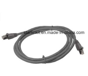 CAT6A Stranded Pure Copper Snagless UTP Patch Cord Cable Grey pictures & photos