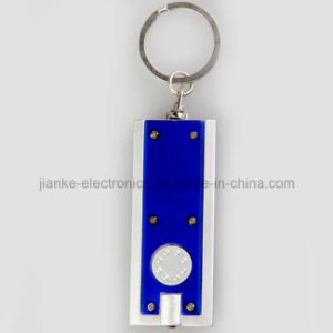 Promotional Mini Plastic LED Keychain with Logo Print (3672) pictures & photos