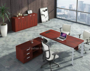 Modern Wooden Director Office Table with MFC Side Table (HF-YZL001) pictures & photos