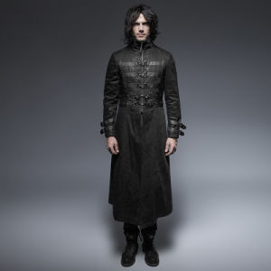 Y-633 Punk Spring Vampire Buckle Man Cool Long Coat pictures & photos