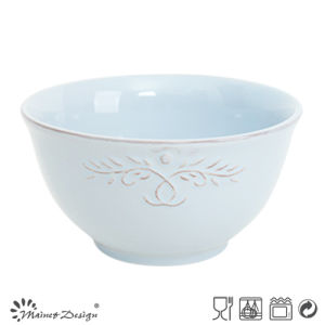 Hot Selling Colorful Glaze with Embossed Ceramic Rice Bowl pictures & photos