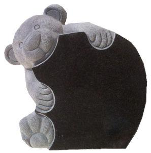 Black Granite Bear Pet Memorials pictures & photos