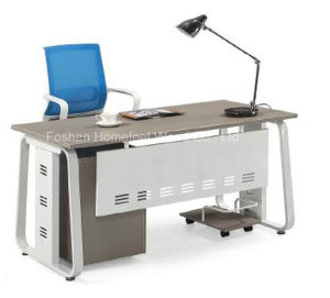 Wooden Home Office Computer Table Furniture with Mobile Pedestal (HF-DB012) pictures & photos