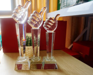 Thumb Crystal Trophy for Business Gift pictures & photos
