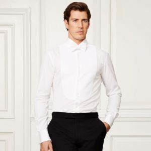Made to Measure 100% Cotton White Dress Shirt Tuxedo Shirt for Men pictures & photos