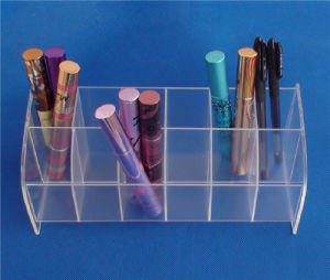 12 Slots Clear Acrylic Plastic Lipstick Display Holder for POS Display pictures & photos