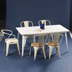 Industrial Cafe White Lacquer Tolix Table and Chair Set (SP-CT673) pictures & photos