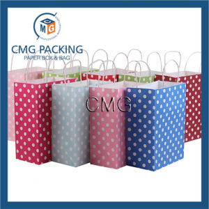 Kcraft Paper Medium Hot Pink Polka DOT Gift Bag pictures & photos