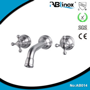 Two Handle Basin Faucet on The Wall (AB014) pictures & photos