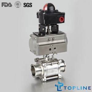 Stainless Steel Sanitary Pneumatic Encapsulated Ball Valve pictures & photos
