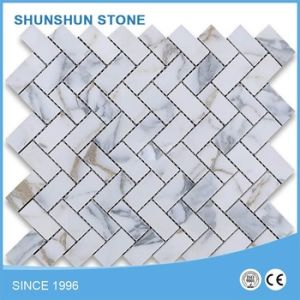 Popular White Ariston Marble Mosaic Tiles for Floor/Wall Cladding pictures & photos