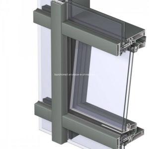 Energy Efficiency Thermally Broken Frames Double Glass Aluminium Facade pictures & photos