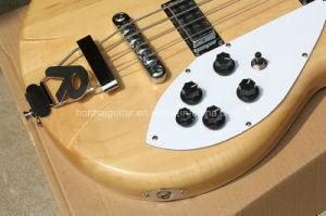 Hanhai Music/Original Wood Color Ricken Style Electric Bass Guitar pictures & photos