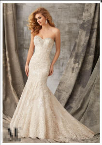 2016 Slim Mermaid Lace Beaded Bridal Wedding Gowns Wd1353 pictures & photos