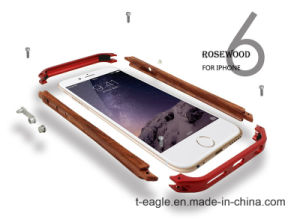 Foreign Selling Side of The Metal Frame Wooden Mobile Phone Case for iPhone6 pictures & photos