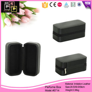 PU Leather Zipper Box Black Color Luxury pictures & photos