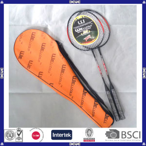 Hot Sell Customized Logo Cheap Badminton Racket Set pictures & photos