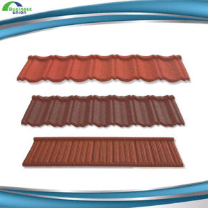 Hot Building Material Fashion Stone Coated Metal Roofing Tile Shingles  Types Of Color Roof Tile