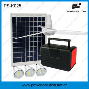 10W Solar Lighting System with 3 Bulbs, FM Radio MP3 and Ceiling Fan pictures & photos