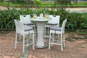 Outdoor Rattan Garden Wicker Bar Table Set